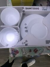 Ikea White Plate Set Brand New Never Opened