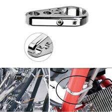 Chrome Motorcycle 25mm Brake Cable Clamp Throttle Wiring Support Fastener Holder