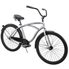 Men's Beach Cruiser Bike 26 Inch Perfect Fit Frame Aluminum Comfort Ride, Silver