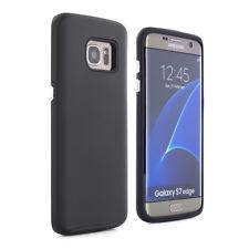 PROPORTA Hybrid Soft/Hartschale Backshell Case, Samsung Galaxy S7 Edge, Schwarz