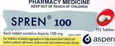 ==> SPREN LOW DOSE ASPIRIN 100 MG 112 TABLETS