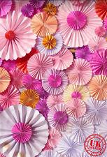 Papier Rose Fleur Fan bébé Toile de Fond Fond Vinyle Photo Prop 5X7FT 150x220CM