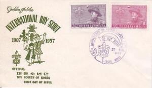 Korea: 1957, FDC, Golden Jubilee International Scouting (BSA979)
