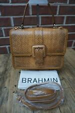 Authentic Brahmin Mini Francine Cognac Everett Leather Satchel--NWT $495
