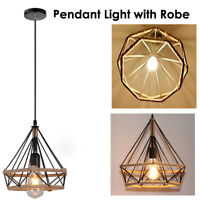 Vintage Edison Iron/Robe Wire Cage Hanging Lamp Shade Pendant Light Chandelier