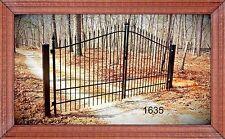 Custom Built Driveway Entry Gate 12ft Wide Dual Swing, Handrails, Gates. Steel