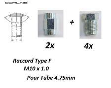 M10x1 Chevrolet 2x conduite tuyau de frein rigide F 4.75 Lg 200mm 20cm