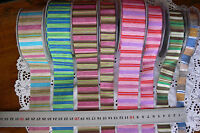 Heat Sealed Striped Across Ribbon 3Widths 2 & 3 metre length 6Colour Choice HS4D