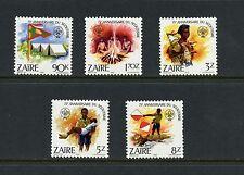 Zaire 1982  #1085-9  scouting   5v. MNH   I776