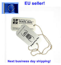 Geocaching Travel Bug trackable Groundspeak Travelbug Dog Tag Unactivated