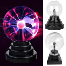 """Magic Touch Crystal Globe Desktop Light Lightning Plasma Ball Sphere 3/4/5/6/8"""""""