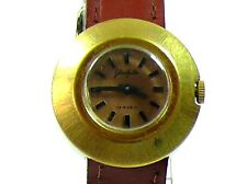 VINTAGE LADIES GLASHUTTE W/WATCH, GOLD PLATED,17 JEWELS VERY GOOD WORKING ORDER