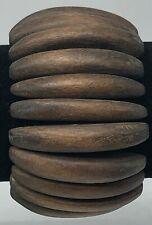 Brown Wooden Stretch Bracelet
