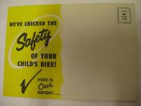 vintage schwinn bicycle  safty check  of your 1960 schwinn bike post card print