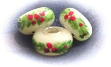 Heisey Opal (Pine and Berries) Bead Made With Broken Heisey Glass