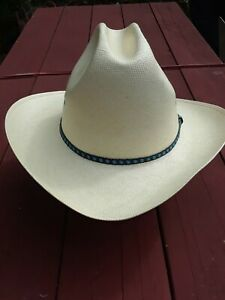 VTG RESISTOL SELF CONFORMING WESTERN COWBOY HAT 4☆ SHANTUNG PANAMA sz 7 1/2 NICE