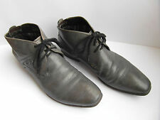Bugatti Men's Real Leather Grey Lace Up Ankle Boots, Sz EU 42 / US 8.5 / UK 7.5