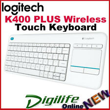 Logitech K400 Plus Wireless TouchPad Unifying Keyboard PC-to-TV control White