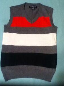 Boys Size 6 Sahara Club vest multicolor V-neck vest sweater