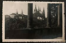 1936 Prague Czechoslovakia RPPC Postcard Cover To Cicero IL USA Castle View