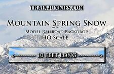 "TrainJunkies HO Mt. Spring Storm w/o Trees Model Railroad Backdrop 120""X18"""