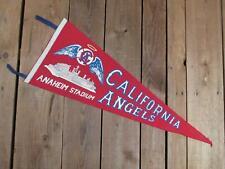 """Vintage 1960s California Angels Baseball Felt Pennant MLB Anaheim Stadium 30"""""""