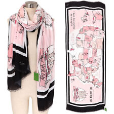 NWT Kate Spade New York Usa Map Scarf Rose Dew
