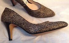 New👠Clarks👠Size 7.5 Cedar Chest Black Pony Hair Leather Pointy Toe Shoes 41.5