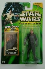 STAR WARS 2000 QUI-GON JINN ACTION FIGURE JEDI FORCE FILE COLLECTION 1 SEALED