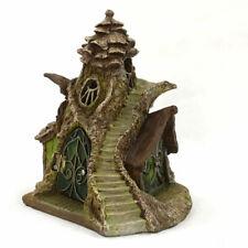 Merlins Manor Fairy House Fiddlehead Miniature Fairy Garden FREE SOLAR LED LIGHT