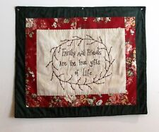 HANDCRAFTED COUNTRY QUILTED WALL HANGING