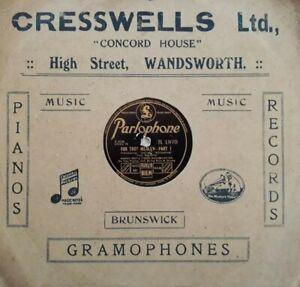 "Harry Roys Tiger Ragamuffins-Foxtrot Medley Shellac 10"" 78 RPM.Parlophone R 1970"