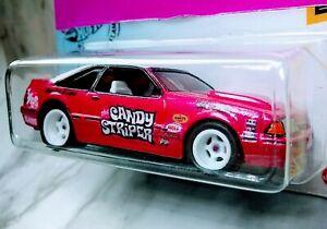 New! hot wheels 92 Mustang.. Custom!. Candy Striper..Real Riders.. ZgrafxKusTomZ