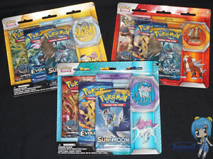 Pokemon Legendary Beasts Collectors Pin set Evolutions Steam Siege Sun Moon Pack