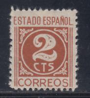 ESPAÑA (1937) NUEVO SIN FIJASELLOS MNH SPAIN - EDIFIL 815 (2 cts) - LOTE 2