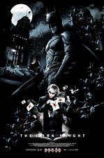 Dark Knight by Vance Kelly Movie Poster DC Batman Joker Mondo Art Print Mint