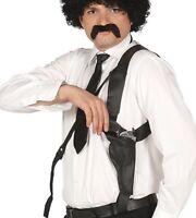Mens Shoulder Holster With Toy Pistol Gun Cop Fancy Dress Weapon Accessory Prop