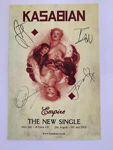 Kasabian Empire Signed Promotional Poster