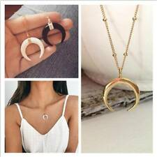 Fashion Necklace Long Half Moon Necklace Women Charm Jewelry Gift