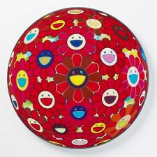 "IN STOCK Takashi Murakami ""Red Flower Ball ""  Ltd.300 S/N 727"