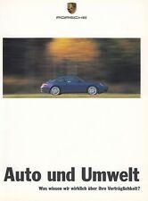 PORSCHE AUTO UMWELT KLIMA ABGAS TECHNIK Prospekt Brochure 1999 94
