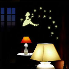 Dandelion girl Luminous Wall Sticker Glow In The Dark Baby Kids Home Decor Decal
