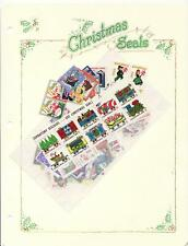 U.S. National Christmas Seal Collection, 1920-68, with Colorful Album Pages