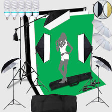 5X150W portraint Professional Photo Studio Eclairage Continu Lampe Set Kit + Bac
