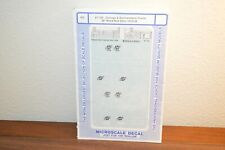 HO Microscale Decals 87-735 Chicago & North Western Ry 40' Fowler wood box cars