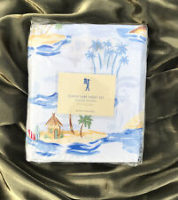 Pottery Barn Kids ISLAND SURF Full Sheet Set