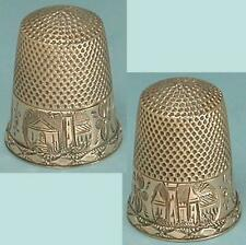 Antique 14 Kt Gold Engraved Thimble * American * Circa 1870