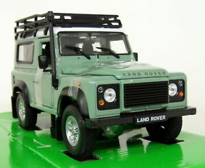 1/24 Scale - Land Rover Defender 90 Green + Snorkel Diecast model car NEW