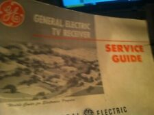 EARLY GENERAL ELECTRIC SERVICE GUIDE TV RECEIVER      box64