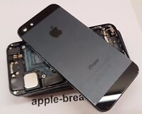 iPhone 5 BLACK Rear BACK Chassis Housing Cover with Parts - GRADE BC - GENUINE